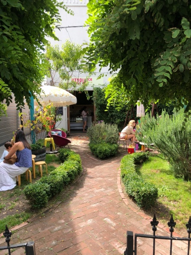 Cosy herb and fruit garden when you can chill out and enjoy your treat!