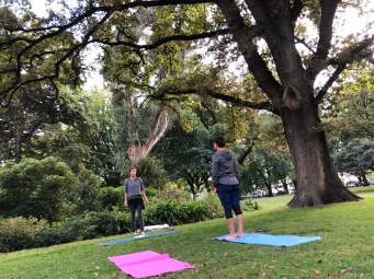 Yoga under the trees with Sophie!